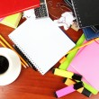 Student's workplace — Stock Photo