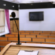 Interior of empty conference room with tribune — Stock Photo #25189531