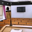 Interior of empty conference room with tribune — Stock Photo
