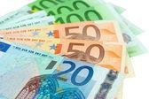 Euro-banknoten nahaufnahme — Stockfoto