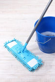 Washing the floor and all floor cleaning — Stock Photo