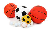 Different balls, isolated on white — Stock Photo