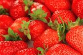 Färska jordgubbar på nära håll — Stockfoto