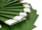 Many green folders closeup — Stock Photo