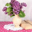 Composition with lilacs on bright background — Stock Photo #25454499