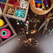 Stock Photo: Workplace of jewellery maker close-up