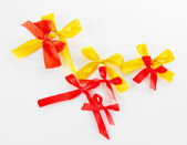 Various bows isolated on white — Stock Photo