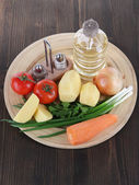 Composition of vegetables — Stock Photo