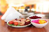 Stuffed cabbage rolls on table in cafe — Stock Photo