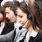 Call center operators at wor — Stock Photo
