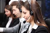операторы call-центра в wor — Стоковое фото