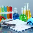 Hand scientist writing formulas — Stockfoto