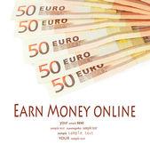 Billetes de euro aislados en blanco — Foto de Stock