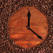 Wall clock of coffee beans, close up — Stock Photo #25707717