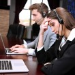Call center operators at wor — Stock Photo #25709067