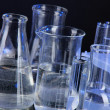 Test tubes on black background — Stock Photo #25768207