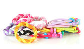 Scrunchies isolated on a white background — Stock Photo