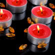Candles isolated on black — 图库照片