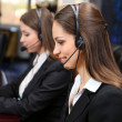 Call center operators at wor — Stock Photo #25889795