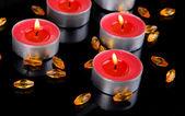 Свечи, сложенные — Стоковое фото