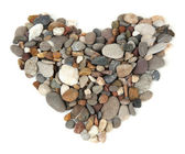 Sea stones heart isolated on white — Stock Photo
