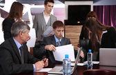 Bedrijf werken in vergaderruimte — Foto de Stock