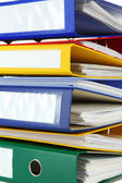 Bright office folders, close up — Stock Photo