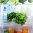 Open refrigerator with vegetarian food — Lizenzfreies Foto