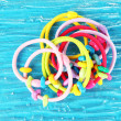 Stock Photo: Scrunchies on blue background