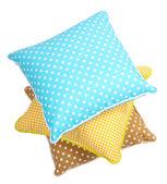 Three pillows isolated on white — Stock Photo