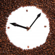 Wall clock of coffee beans, close up — Stock Photo #26014489