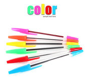 Färgglada pennor isolerad på vit — Stockfoto