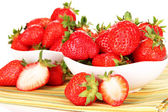 Fresh strawberry close up — Stok fotoğraf