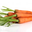 Carrots, isolated on white — Stock Photo