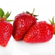 Three strawberry isolated on white — Stock Photo