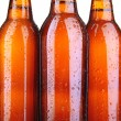 Stock Photo: Beer bottles close up