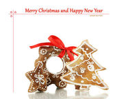Christmas cookies isolated on white — Stock Photo