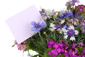 Beautiful bouquet close-up isolated on white — Stock Photo