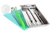 Outils de dentiste isolés sur blanc — Photo