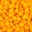 Yellow beads close-up — Stock Photo