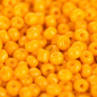 Stock Photo: Yellow beads close-up