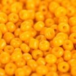 Yellow beads close-up — Stock Photo