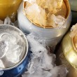 Metal tin on with ice close-up — Stock Photo #26324643
