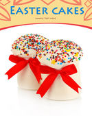 Easter cake with sugar glaze isolated on white — Stock Photo