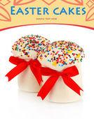 Easter cake with sugar glaze isolated on white — Stock Photo