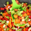 Stock Photo: Vegetable ragout in wok, close up