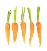 Heap of carrots, isolated on white — Stock Photo