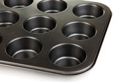 Muffin tray close up — Stock Photo