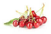 Cherry berries isolated on white — Stock Photo