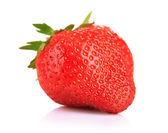 Ripe sweet strawberry, isolated on white — Stock Photo